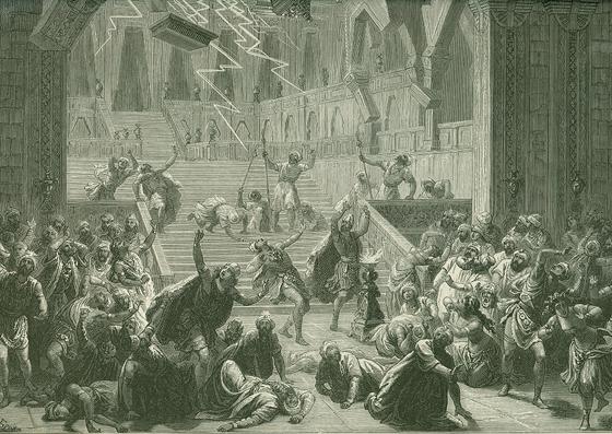 Сцена «Гнев богов» из балета Мариуса Петипа «Баядерка»