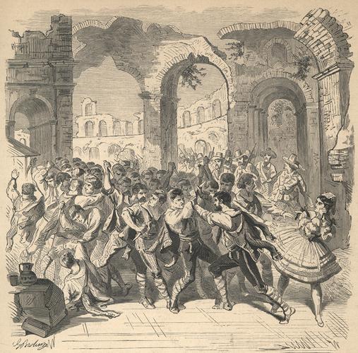 Сцена из балета Мариуса Петипа «Бандиты»