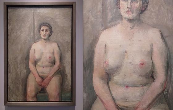 Уильям Колдстрим. Сидящая обнаженная. 1952—1953. Холст, масло. 106,7х70,7см