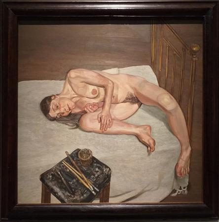 Люсьен Фрейд. Обнаженный портрет. 1972—1973. Холст, масло. 61х61см