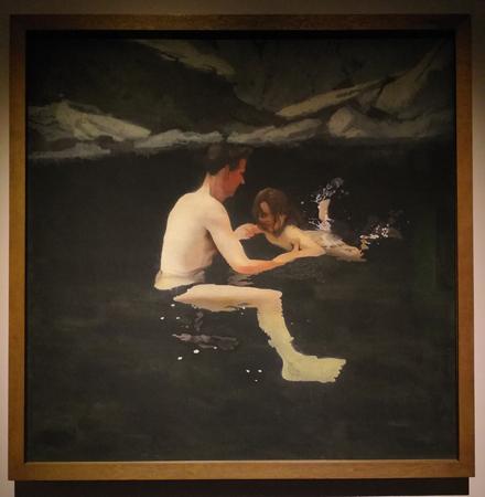 Майкл Эндрюс. Мы с Мелани плаваем. 1978—1979. Холст, акрил. 182,9х182,9см