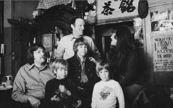 Бродский и семейство Проффер. Ленинград, 10 мая 1972 года. Фото А.И. Бродского