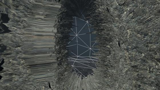 Глитчующее местечко: в него невозможно попасть, но через окно можно увидеть внутренность-сетку