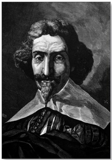 Мигель де Сервантес. Копия гравюры, опубликованной в журнале L