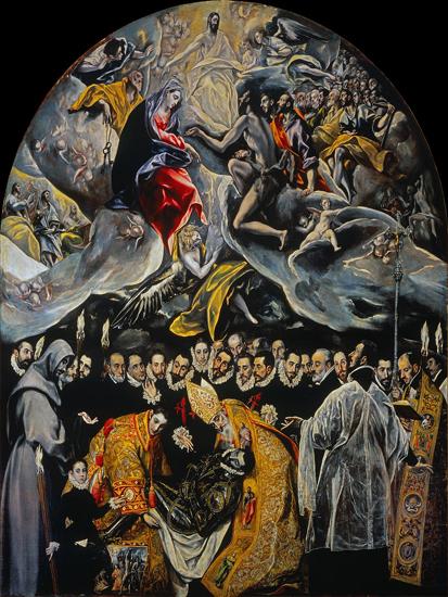 «Погребение сеньора Оргаса». Эль Греко. 1586–1588. Церковь Сан-Томе (Толедо)