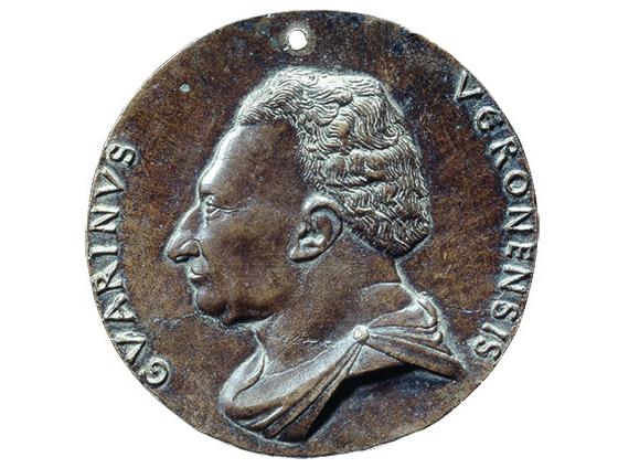 Медаль Гуарино да Верона (аверс). Около 1446. Бронза; диаметр 9,5