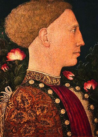 Пизанелло. Портрет Леонелло д'Эсте. 1441. Дерево, темпера; 26×18
