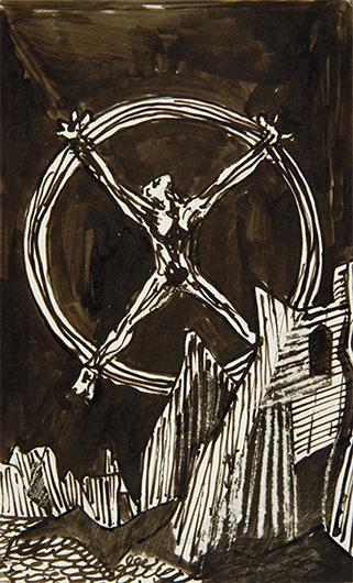 Фридрих Дюрренматт. Из серии «Ибо сказано». 1946