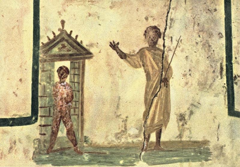 Воскрешение Лазаря. Фреска из катакомб Сан-Каллисто в Риме. III в.© Большая российская энциклопедия